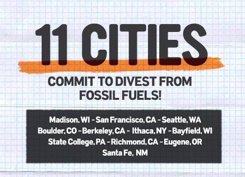 11 Cities Divesting From Fossil Fuels!  : )