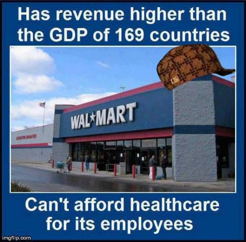 Wal-Mart's Employee Hellcare (Photo with words)